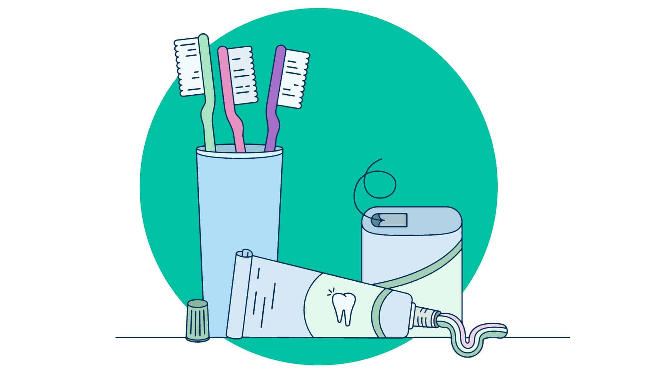 Dental Care products, Toothbrushes, Toothpaste, & Floss